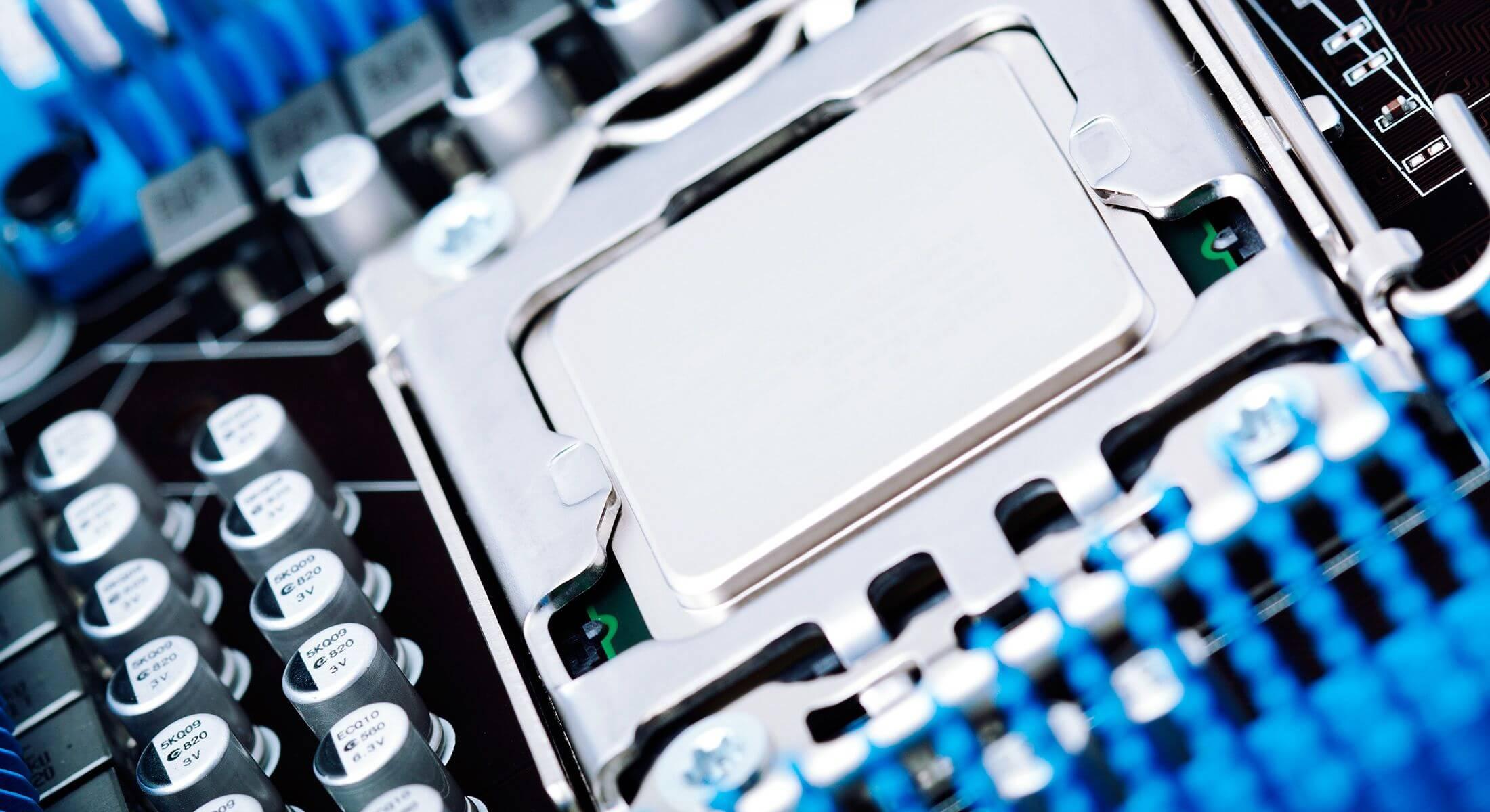 Computer processor in socket